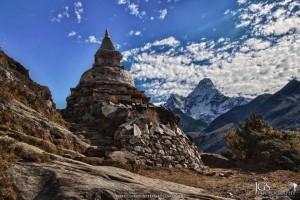 Everest Base camp trek Mt Amadablam beautiful mountain of the world