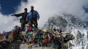 Kalapathar 5550m Everest with Canadian