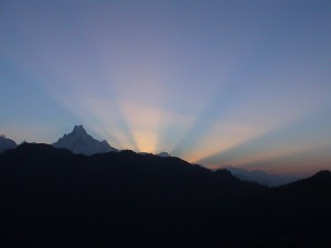 Sunrise from Poon hill