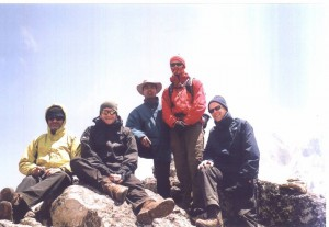 with my Group in Everest Treks Dinboche hight 5200m
